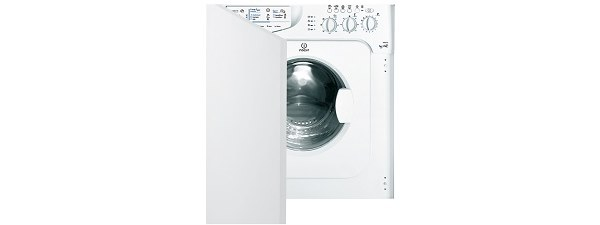 Indesit IWDE126 Washer Dryer Built In White