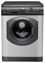 Picture of a grey Hotpoint washer