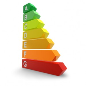 Picture of the energy efficiency scale from A to G