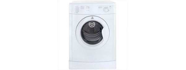 Indesit IDV75 Vented Tumble Dryer freestanding silver