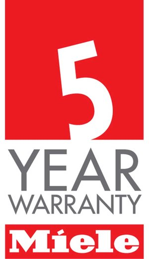logo for the miele 5 year guarantee