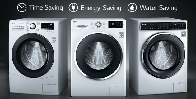 picture of the lg turbo wash range of washing machines