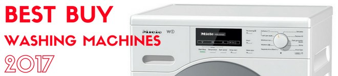 picture of the top portion of a miele washing machine with 'best buys' heading