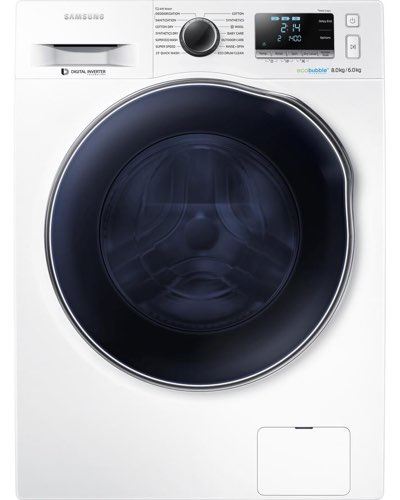 Picture of the SAMSUNG ecobubble WD80J6410AW/EU Washer Dryer