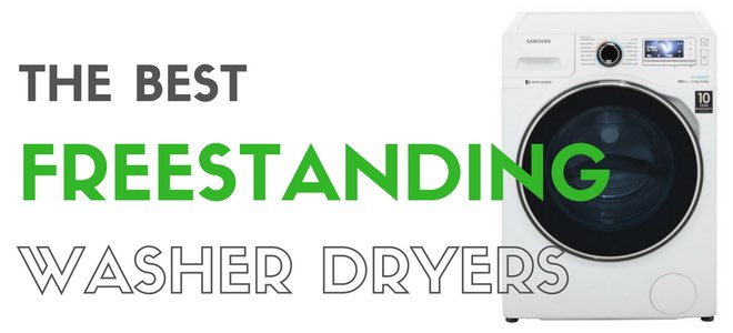 picture of a samsung washer dryer with the headline 'the best washer dryers'