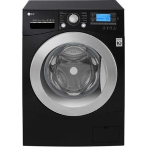 LG FH495BDN8 black washing machine with 1400rpm